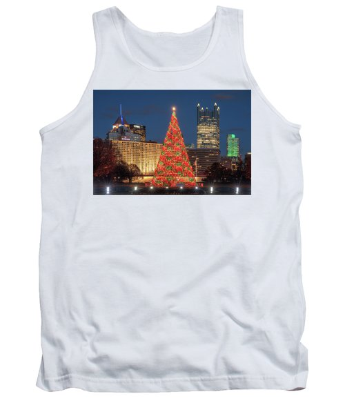 Tank Top featuring the photograph Christmas  Season In Pittsburgh  by Emmanuel Panagiotakis