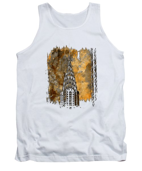 Chrysler Spire Earthy 3 Dimensional Tank Top by Di Designs
