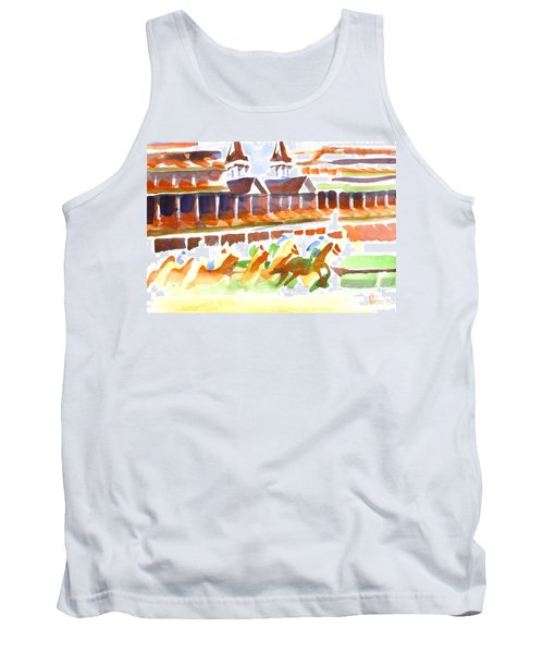 Churchill Downs Watercolor Tank Top