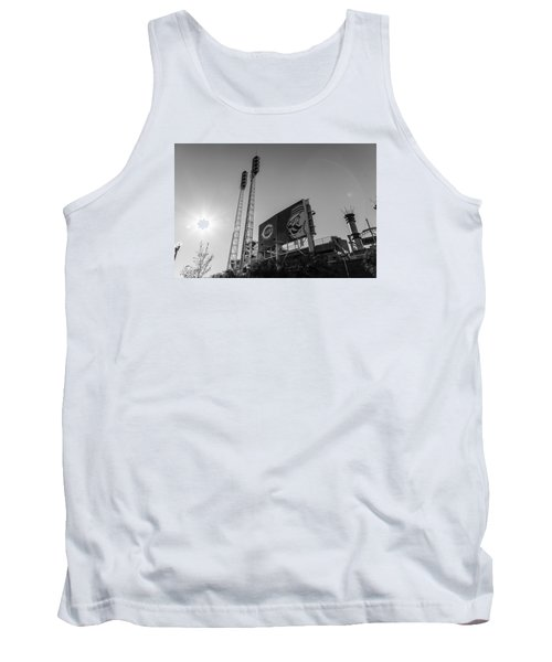Cincinnati Reds Riverfront Stadium Black And White  Tank Top
