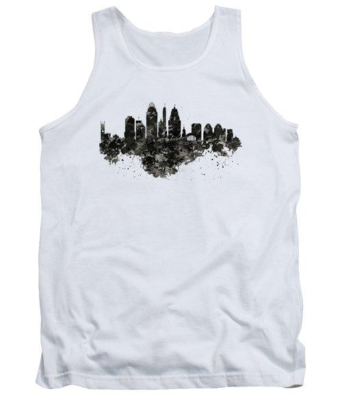 Cincinnati Skyline Black And White Tank Top