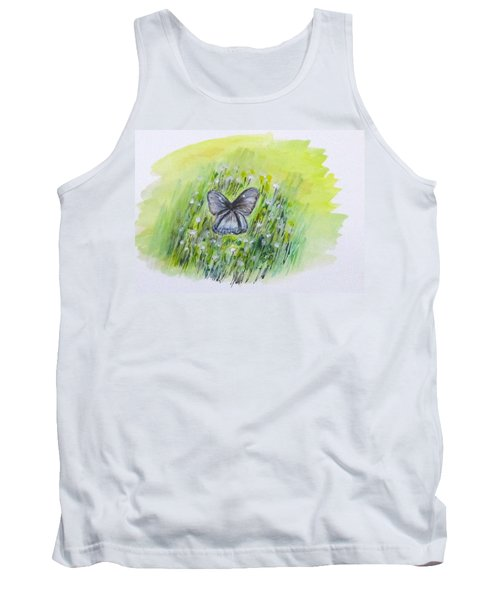 Cindy's Butterfly Tank Top by Clyde J Kell