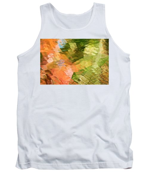 Cinnamon And Spice Mosaic Abstract Tank Top