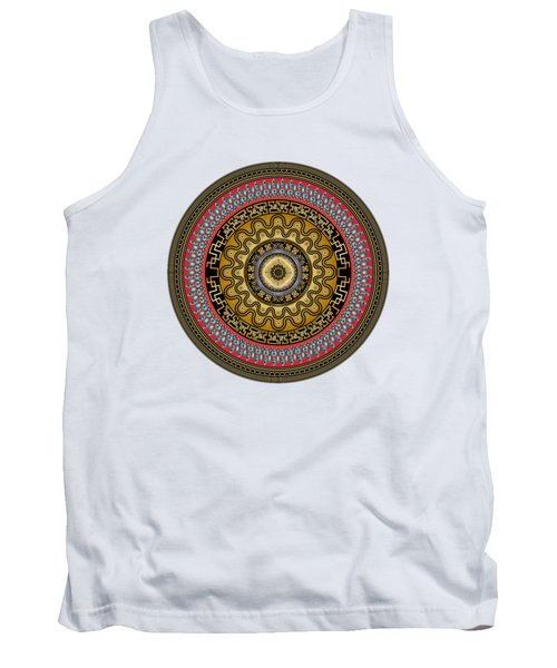 Circularium No. 2644 Tank Top by Alan Bennington