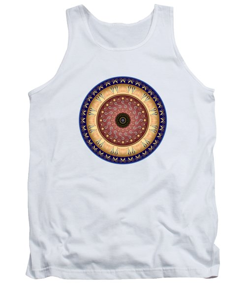 Circularium No 2647 Tank Top by Alan Bennington
