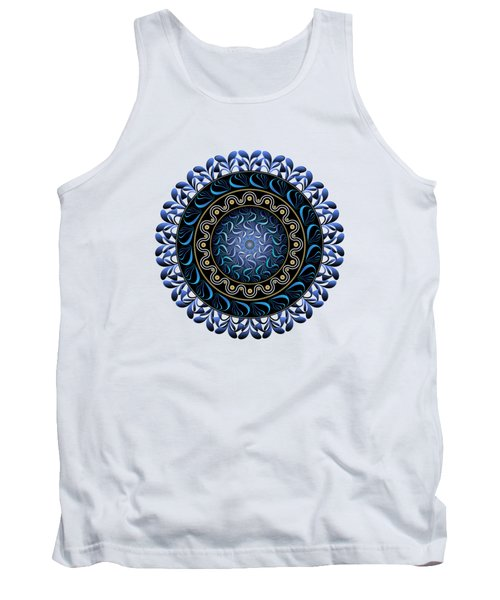 Circularium No 2657 Tank Top by Alan Bennington