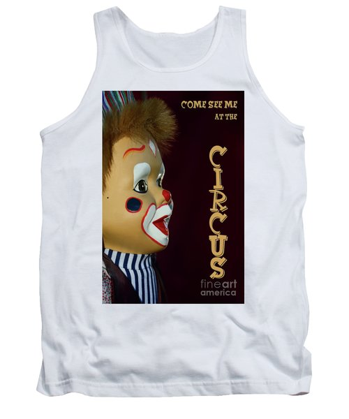 Tank Top featuring the photograph Circus Clown By Kaye Menner by Kaye Menner