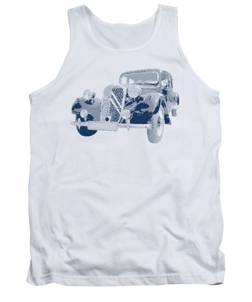 Citroen Traction Avant  - Parallel Hatching Tank Top