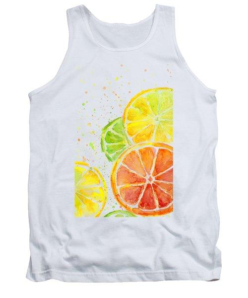 Citrus Fruit Watercolor Tank Top