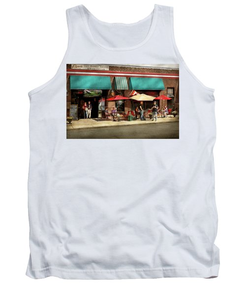 Tank Top featuring the photograph City - Edison Nj - Pino's Basket Shop by Mike Savad