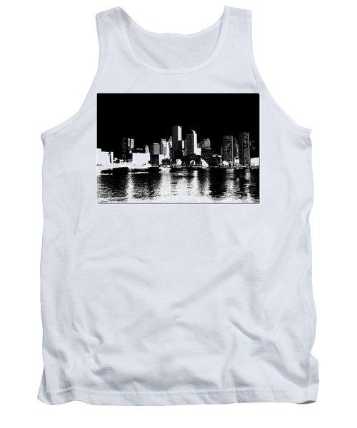 City Of Boston Skyline   Tank Top