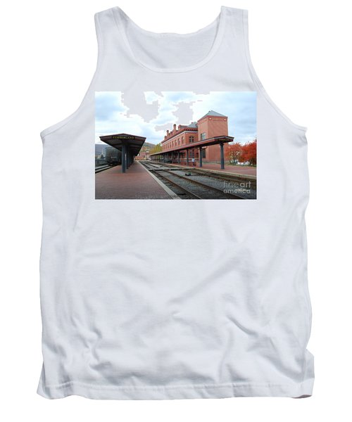Tank Top featuring the photograph City Station by Eric Liller