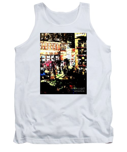 Tank Top featuring the painting City Stroll by Denise Tomasura