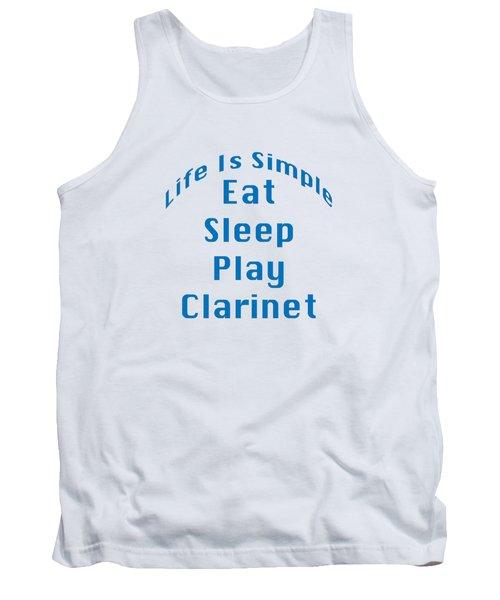 Clarinet Eat Sleep Play Clarinet 5512.02 Tank Top