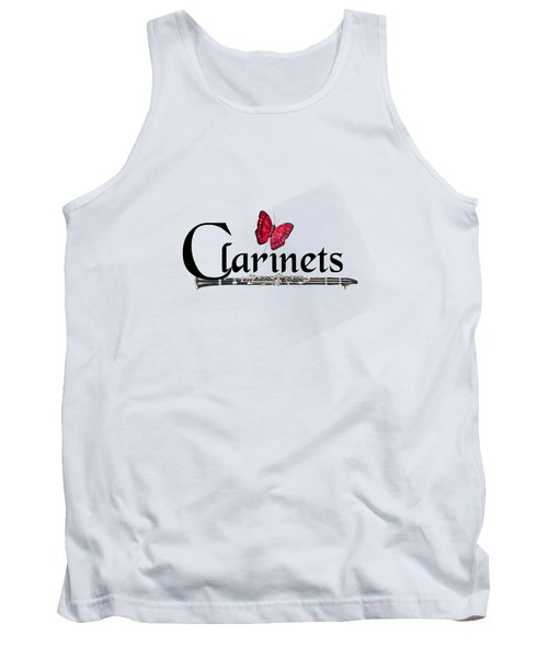 Clarinets And Butterfly Tank Top