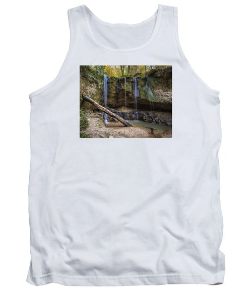 Clark Creek Waterfall No. 1 Tank Top by Andy Crawford