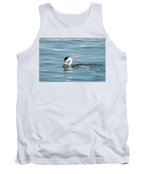 Tank Top featuring the photograph Clarks Grebe by Everet Regal