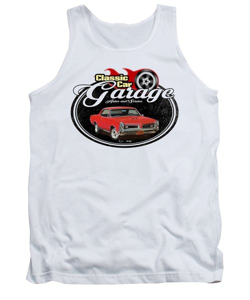 Classic Car Garage With Gto Tank Top