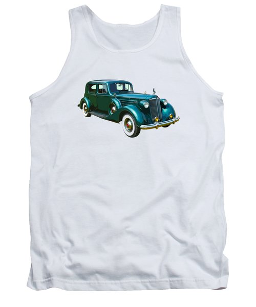 Classic Green Packard Luxury Automobile Tank Top by Keith Webber Jr