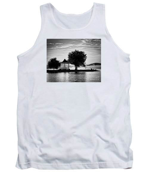Claytor Lake Gazebo - Black And White Tank Top