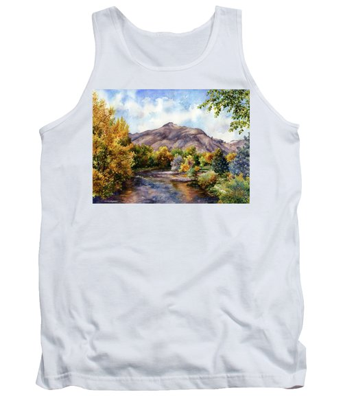 Tank Top featuring the painting Clear Creek by Anne Gifford