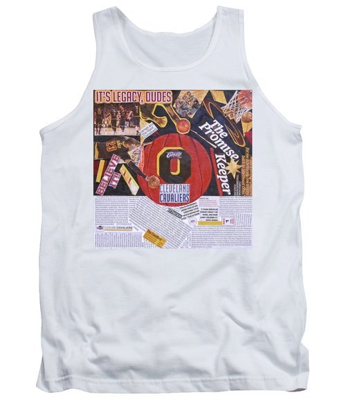 Tank Top featuring the painting Cleveland Cavaliers 2016 Champs by Colleen Taylor