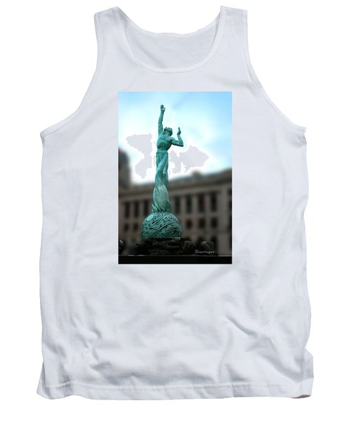 Tank Top featuring the photograph Cleveland War Memorial Fountain by Terri Harper