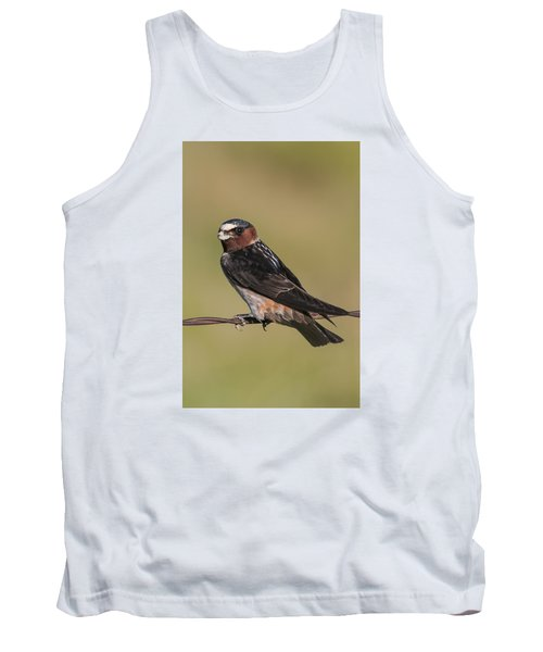 Tank Top featuring the photograph Cliff Swallow by Gary Lengyel