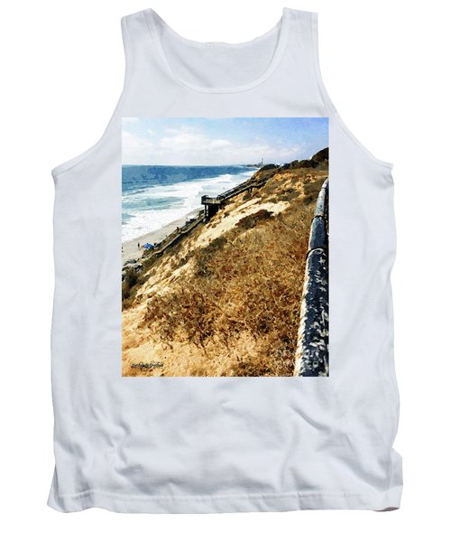 Cliff View - Carlsbad Ponto Beach Tank Top