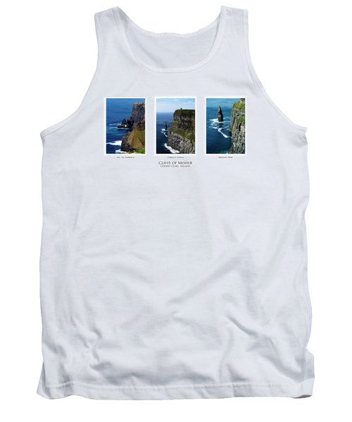 Cliffs Of Moher Ireland Triptych Tank Top
