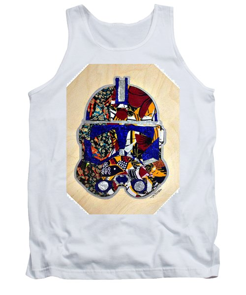 Tank Top featuring the tapestry - textile  Clone Trooper Star Wars Afrofuturist by Apanaki Temitayo M