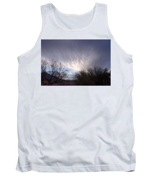 Clouds In Desert Tank Top by Mordecai Colodner