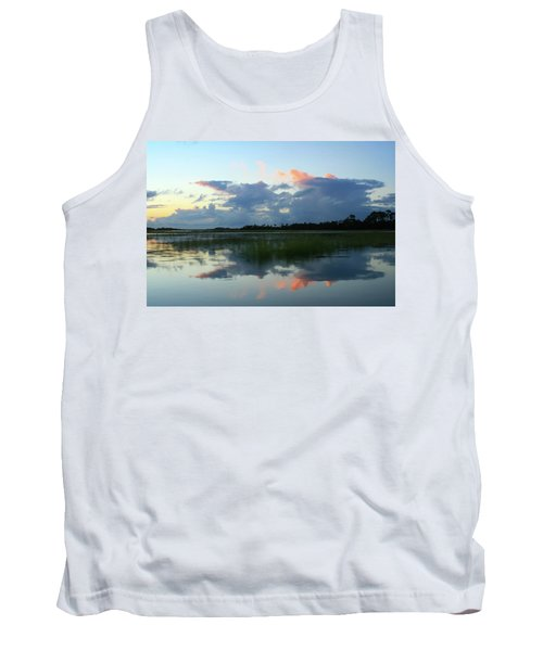 Clouds Over Marsh Tank Top
