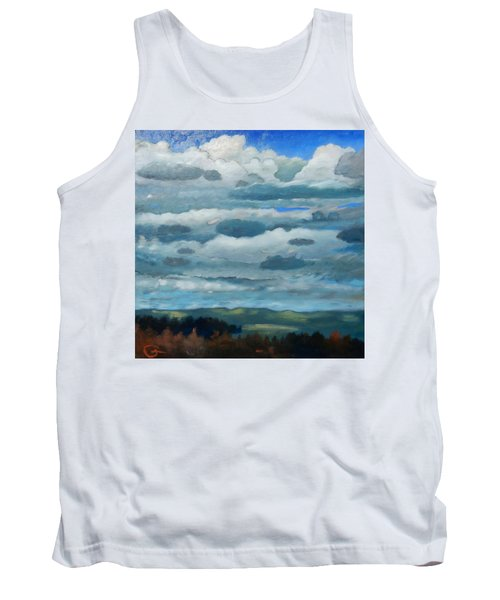 Tank Top featuring the painting Clouds Over South Bay by Gary Coleman
