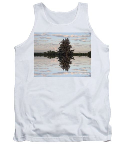 Clouds Up And Down Tank Top
