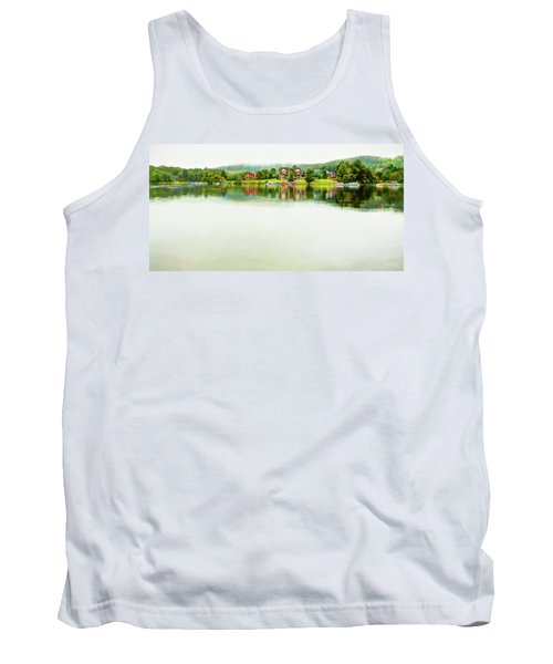 Cloudy Day On The Lake Tank Top
