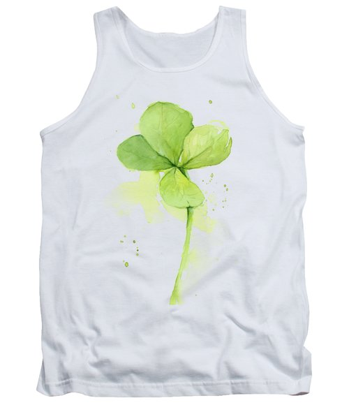 Clover Watercolor Tank Top