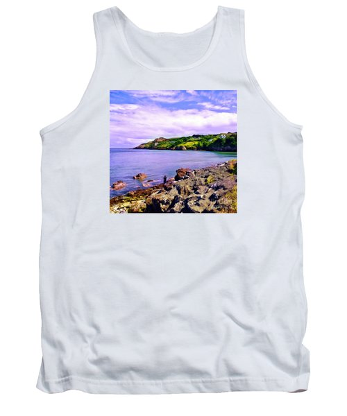 Rocky Coast At Howth Tank Top by Judi Bagwell