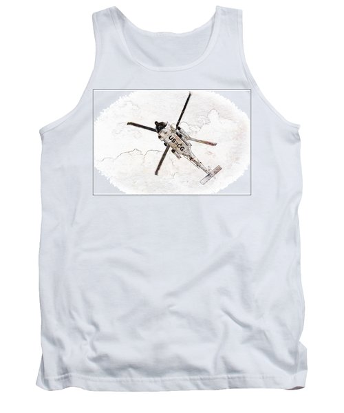 Tank Top featuring the photograph Coast Guard Helicopter by Aaron Berg