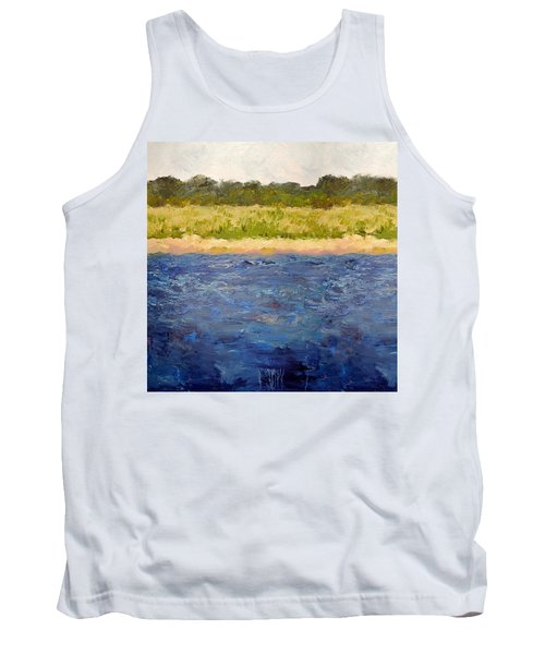 Tank Top featuring the painting Coastal Dunes - Square by Michelle Calkins
