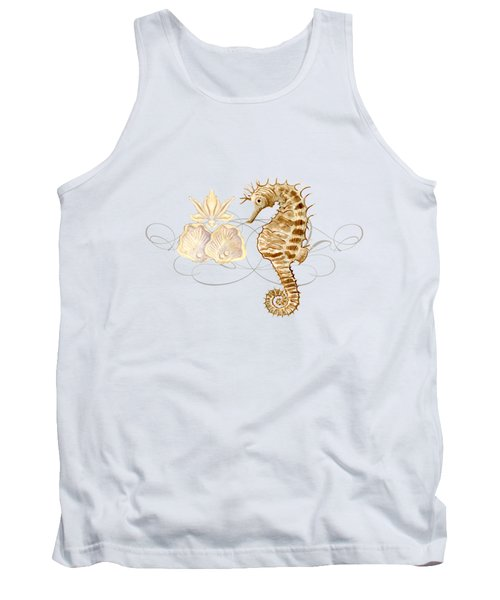Coastal Waterways - Seahorse Rectangle 2 Tank Top by Audrey Jeanne Roberts