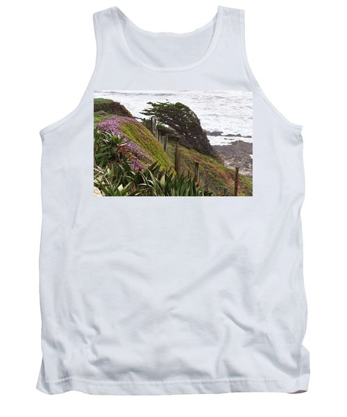 Coastal Windblown Trees Tank Top