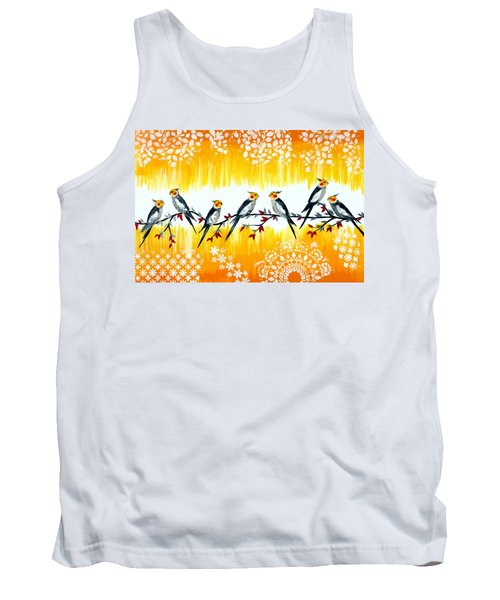 Cockatiels Tank Top by Cathy Jacobs