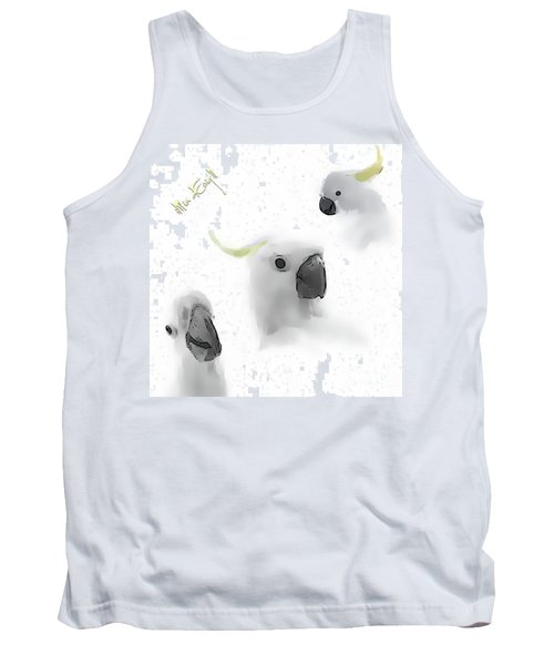 Cockatoos Tank Top by Maria Astedt