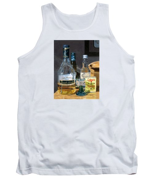 Tank Top featuring the painting Cocktails And Mustard by Lynne Reichhart