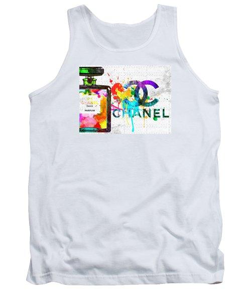 Coco Chanel No. 5 Grunge Tank Top by Daniel Janda