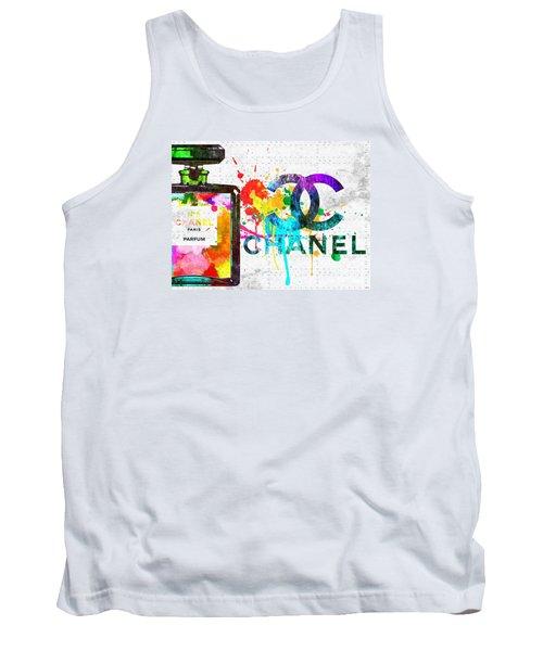 Coco Chanel No. 5 Grunge Tank Top