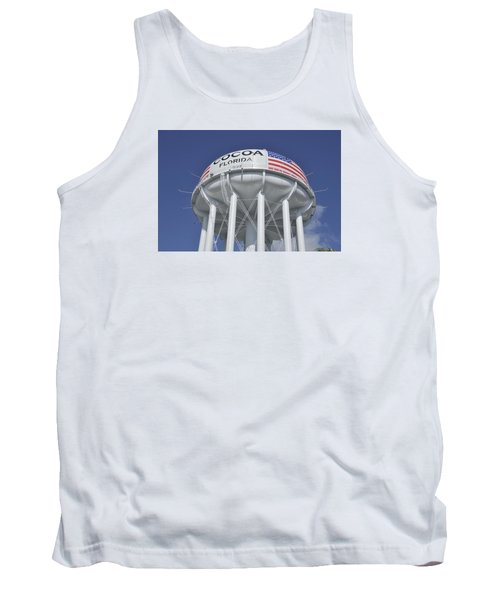 Tank Top featuring the photograph Cocoa Florida Water Tower by Bradford Martin