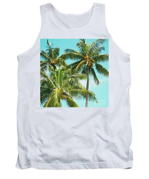 Tank Top featuring the photograph Coconut Palm Trees Sugar Beach Kihei Maui Hawaii by Sharon Mau