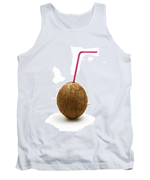 Coconut With A Straw Tank Top